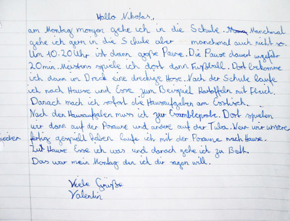Valentin, Schüler